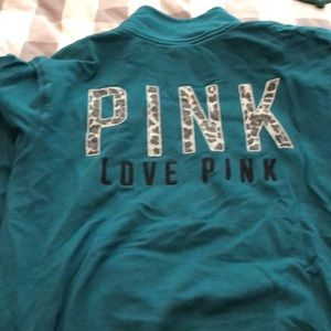Pink small green pullover